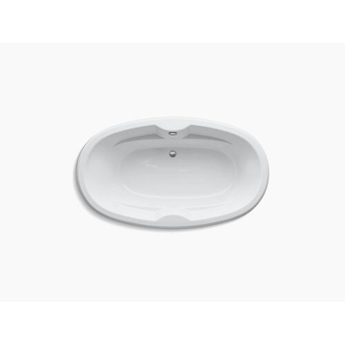 "White 72"" X 43"" Oval Drop-in Bath"