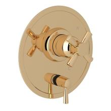 English Gold Perrin & Rowe Holborn Pressure Balance Trim With Diverter with Holborn Cross Handle