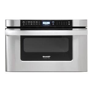 Sharp24 in. 1.2 cu. ft. 950W Sharp Easy Open Stainless Steel Microwave Drawer