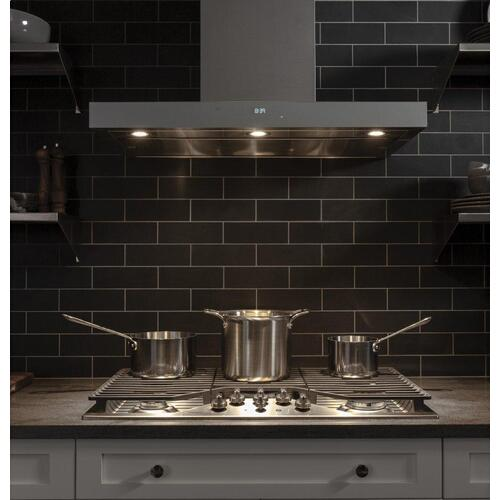 "GE Profile™ 36"" Built-In Tri-Ring Gas Cooktop with 5 Burners and Included Extra-Large Integrated Griddle"