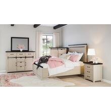 Madison County 4pc King Panel Bedroom: Bed, Dresser, Mirror, Nightstand