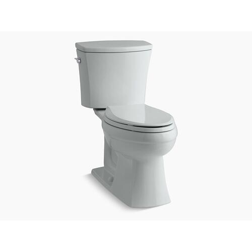 Ice Grey Two-piece Elongated 1.6 Gpf Chair Height Toilet
