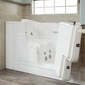 Gelcoat Premium Seriers 30x52 Walk-in Tub with Combo Massage and Outswing Door, Right Drain  American Standard - White