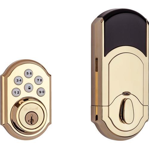 Kwikset - 909 SmartCode Traditional Electronic Deadbolt - Lifetime Polished Brass
