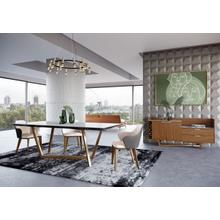View Product - Modrest James - Contemporary Walnut & White Dining Table