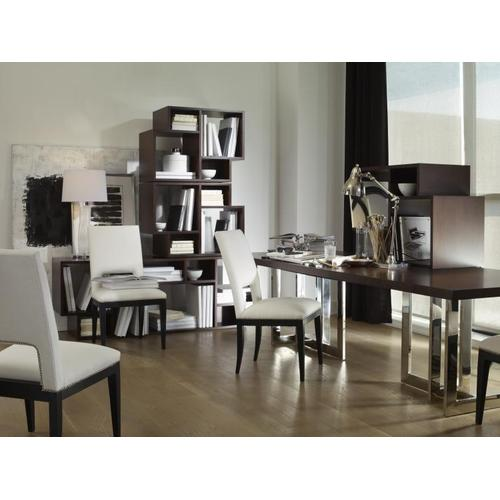 Product Image - Milan Satin Walnut Dining Table With Metal Base