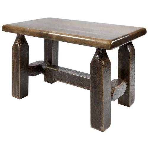 Homestead Collection Ottoman, Stain and Lacquer Finish