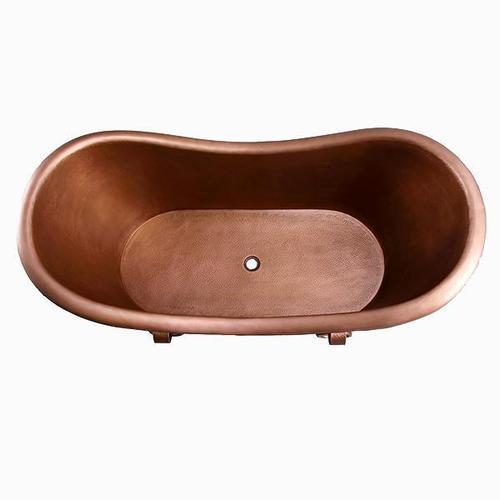 "Baylis 66"" Copper Double Slipper Tub"