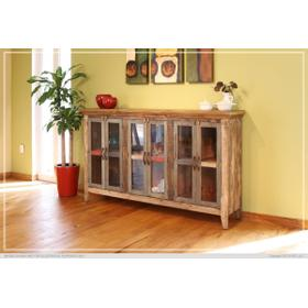 """See Details - 73"""" Console w/6 Glass Doors"""