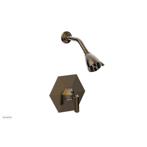 Phylrich - LE VERRE & LA CROSSE Pressure Balance Shower Set - Lever Handle PB3170 - Antique Brass