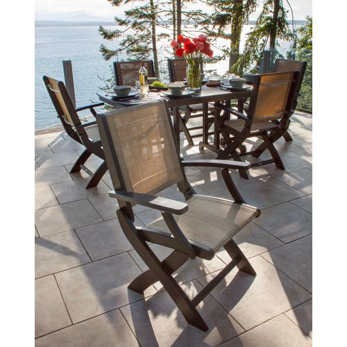 Black & Kiwi Coastal Folding Chair