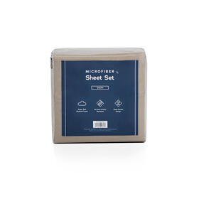 Microfiber Sheets, king, Sandstone