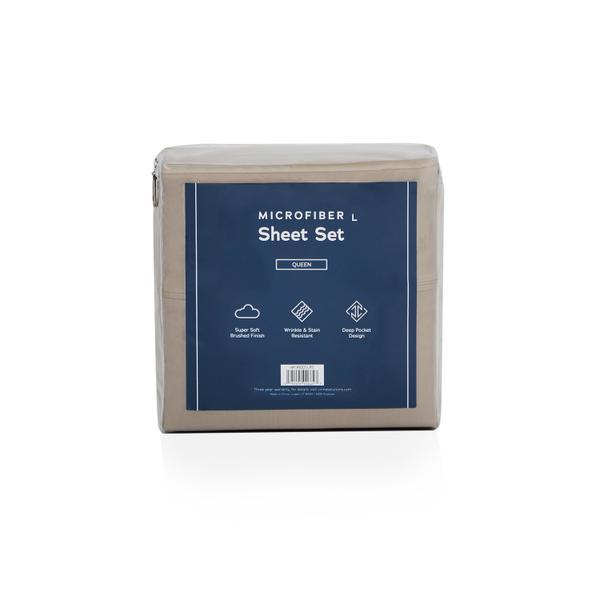 See Details - Weekender Microfiber Sheets, cal king, Sandstone