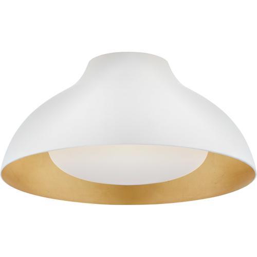 AERIN Agnes LED 15 inch Plaster White Flush Mount Ceiling Light