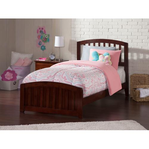 Atlantic Furniture - Richmond Twin XL Bed with Matching Foot Board in Walnut