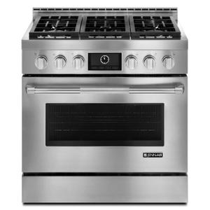 """Jenn-AirPro-Style® 36"""" Gas Range with MultiMode® Convection Stainless Steel"""