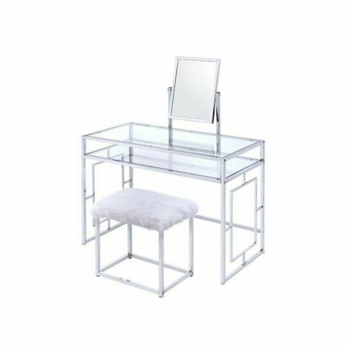 ACME Carenze II Vanity Set - 90314 - White & Chrome