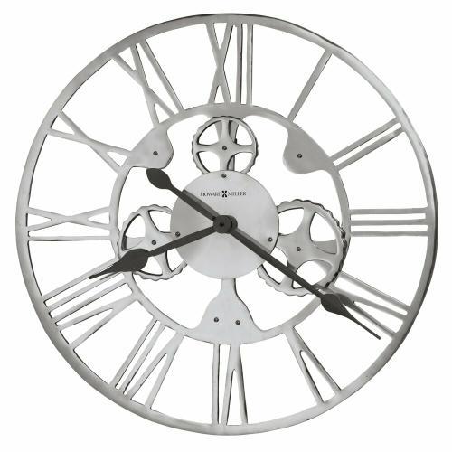 Howard Miller Mecha Aluminum Oversized Wall Clock 625678