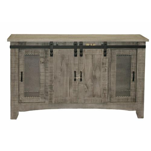 """Million Dollar Rustic - 60"""" Charcoal Grey Barn Door Tv/buffet"""