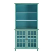 Largo Cupboard With Glass Doors Turquois
