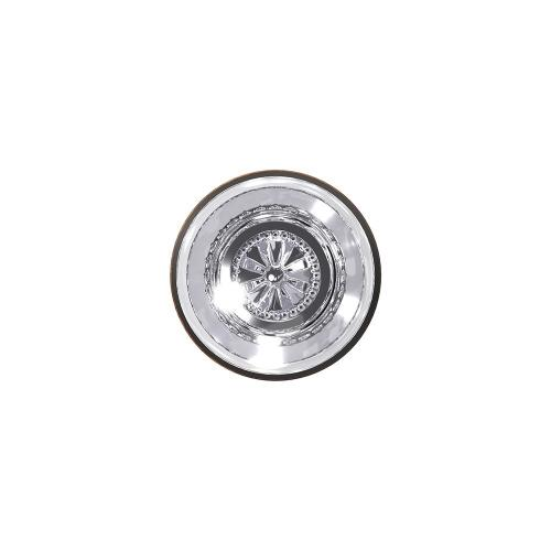 Custom Hobson Glass Knob with Kinsler Trim Hall-Closet and Bed-Bath Lock - Aged Bronze