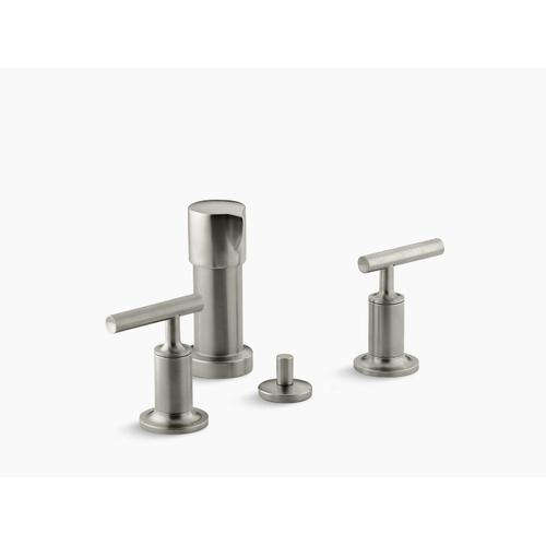 Vibrant Brushed Nickel Vertical Spray Bidet Faucet With Lever Handles