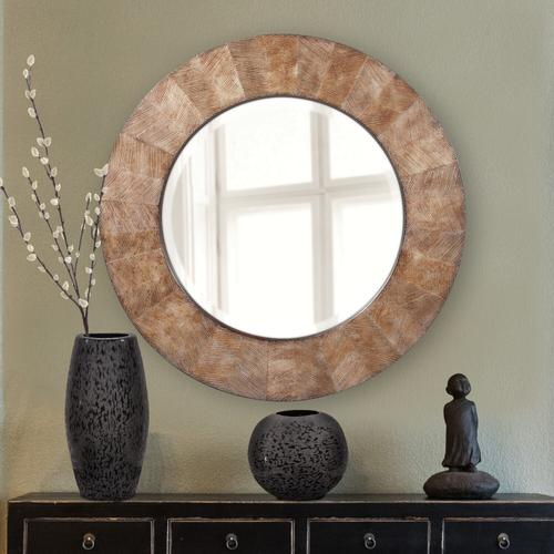 Howard Elliott - Chiseled Texture Black Iron Globe Vase, Large
