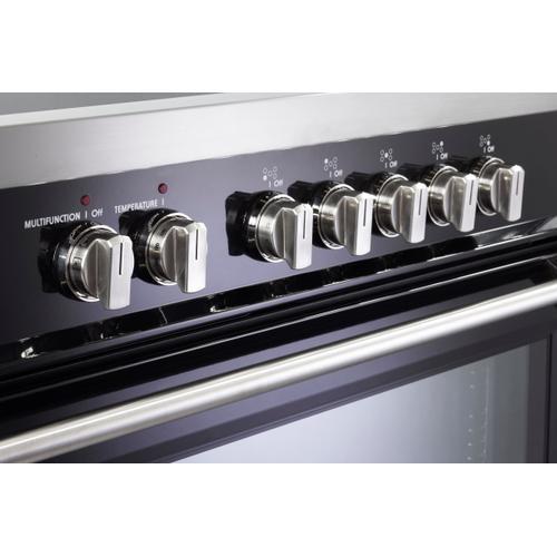 "Verona - Gloss Black 36"" Designer Induction Range"