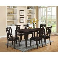 ACME Sonata 7Pc Pack Dining Set - 71955 - Espresso & Espresso PU