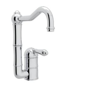 Acqui Single Hole Column Spout Bar and Food Prep Faucet - Polished Chrome with Metal Lever Handle