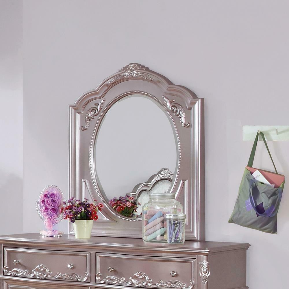 Caroline Metallic Lilac Mirror