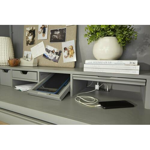 Parker House - AMERICANA MODERN - DOVE Workstation with LED Light