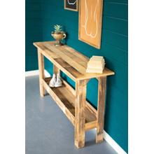 See Details - recycled wood console table with lower shelf