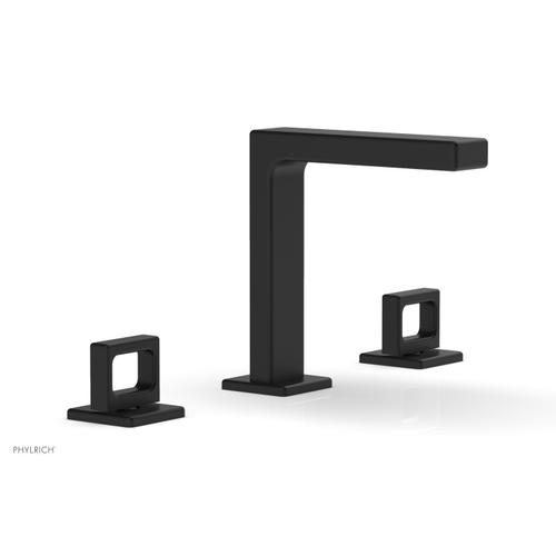 """MIX Widespread Faucet - Ring Handles 6-3/4"""" Height 290-03 - Matte Black"""