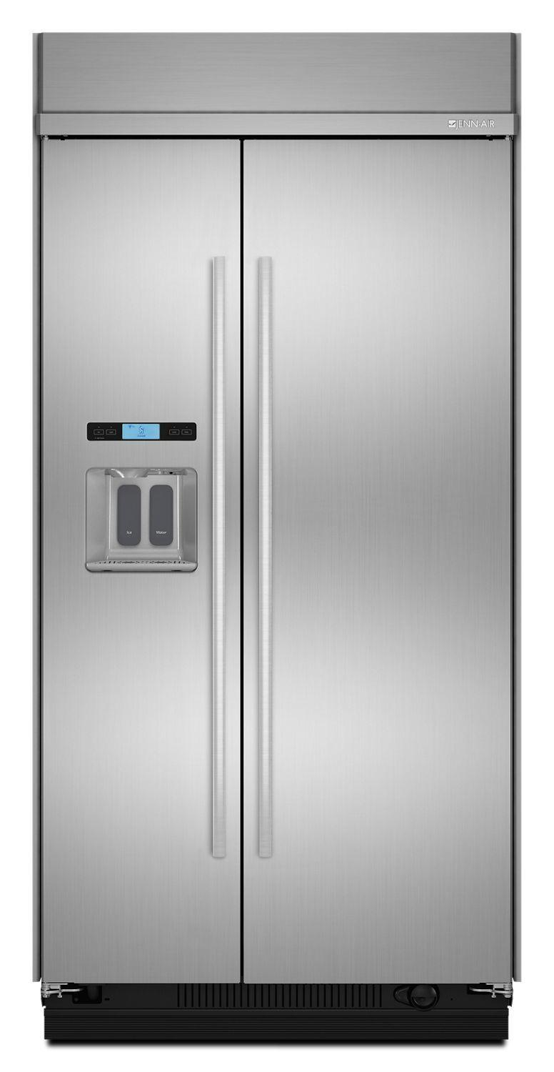 "Jennair48"" Built-In Side-By-Side Refrigerator With Water Dispenser Stainless Steel"