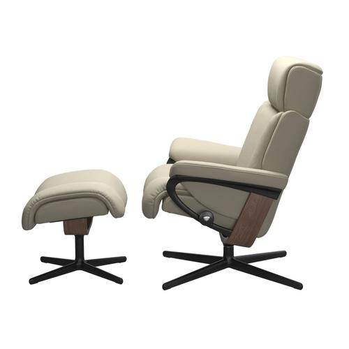 See Details - Stressless® Magic (L) Cross Chair with Ottoman