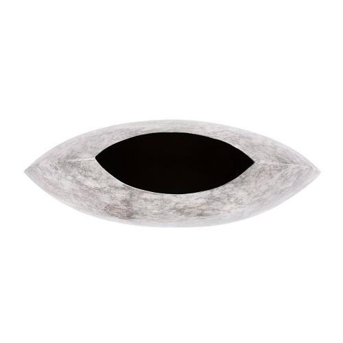 Howard Elliott - Round Gray Marbled Iron Disc Vase, Large