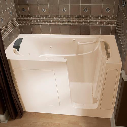 American Standard - Premium Series 30x60 Combo Massage Walk-in Tub, Right Drain  American Standard - Linen