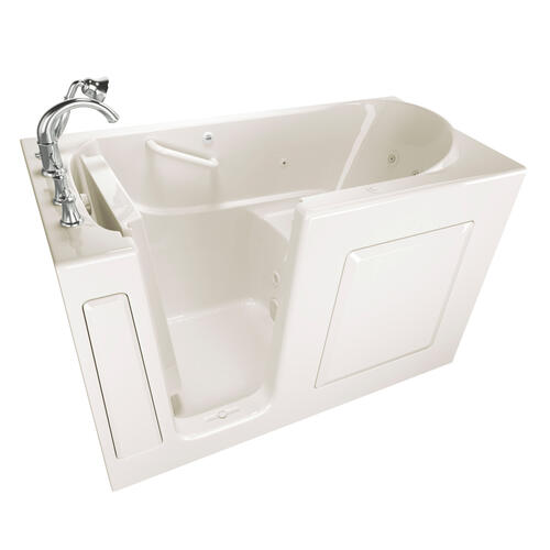 Gelcoat Value Series 30 x 60 Inch Walk-in Tub with Whirlpool System  Left Drain  American Standard - Linen