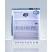 See Details - Performance Series Pharma-vac 6 CU.FT. ADA Height Glass Door Commercial All-refrigerator for the Display and Refrigeration of Vaccines; Designed for Recessed or Freestanding Installation, With Factory Installed Data Logger