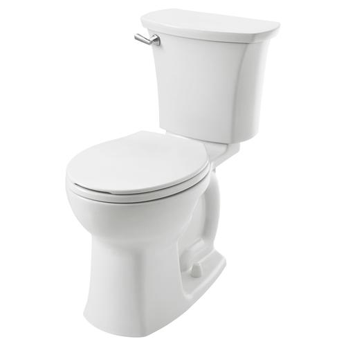 """Edgemere Right Height Round Front 10"""" Rough-in Toilet  1.28 GPF American Standard - White"""