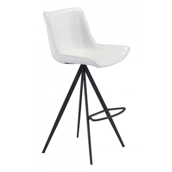 Aki Bar Chair White & Black
