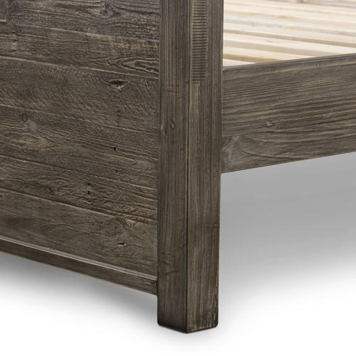 King Size Rustic Black Olive Finish Caminito Bed