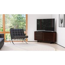 View Product - Corridor 8175 Corner Media Cabinet in Chocolate Stained Walnut