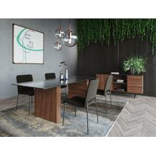 View Product - Modrest Maggie - Modern Walnut and Black Ceramic Top Dining Table