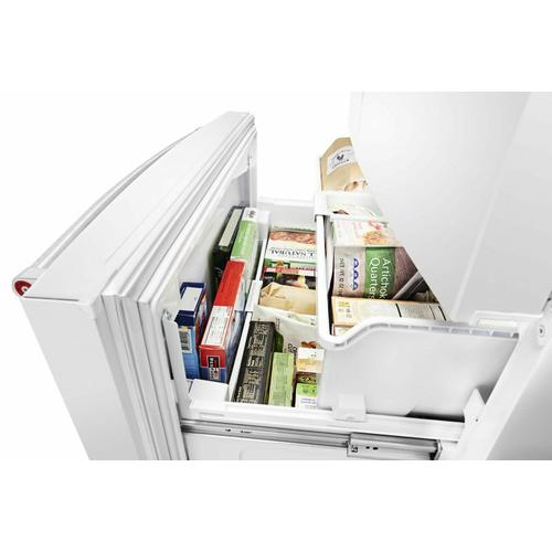 KitchenAid - 26.8 cu. ft. 36-Inch Width Standard Depth French Door Refrigerator with Exterior Ice and Water - White