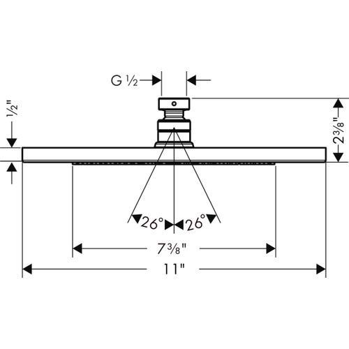 Chrome Showerhead 280 1-Jet, 2.0 GPM