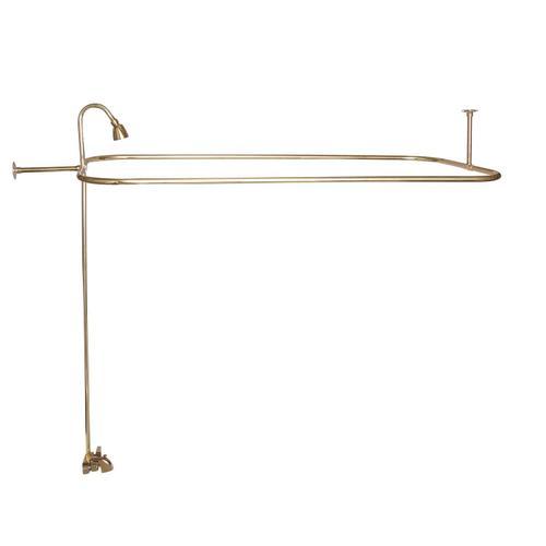 "Tub/Shower Converto Unit - Polished Brass / 54"" x 24"""