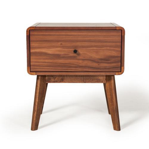VIG Furniture - Modrest Marshall Mid-Century Modern Walnut Nightstand