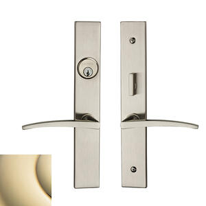 Lifetime Polished Brass Santa Monica Entrance Trim Product Image